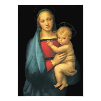 Madonna y niño, Madonna del Granduca por Raphael Invitación 12,7 X 17,8 Cm