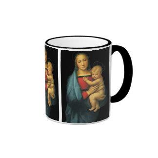 Madonna y niño, Madonna del Granduca por Raphael Taza De Dos Colores