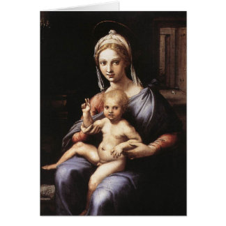 Madonna y niño tarjeta