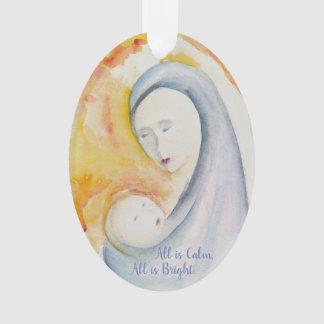 Madonna y ornamento del navidad del niño