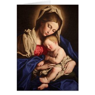 Madonna y tarjeta de felicitación del niño