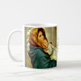Madre bendecida que celebra la rama de Jesús del Taza De Café