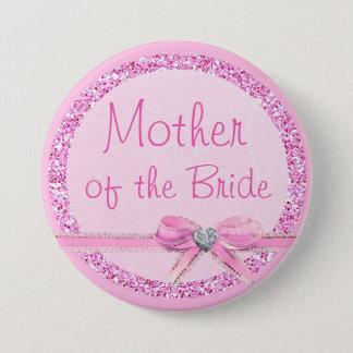 Madre botón del purpurina del arco del rosa de la