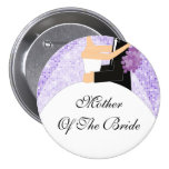 Madre brillante de la púrpura del botón/Pin de la