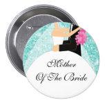 Madre brillante de la turquesa del botón/Pin de la