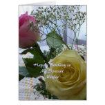 Madre cristiana de los rosas de la tarjeta del fel