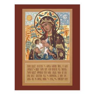 Madre de dios la tarjeta del rezo del Leche-Donant Tarjetas Postales