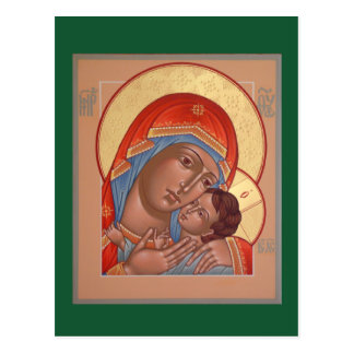 Madre de Kasperov de la tarjeta del rezo de dios