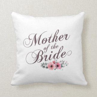 Madre de la almohada floral elegante del boda de
