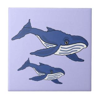 Madre de la ballena azul AW y teja del bebé