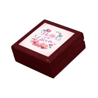 Madre de la caja de regalo de los corazones del