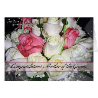 Madre de la enhorabuena del novio tarjeta de felicitación