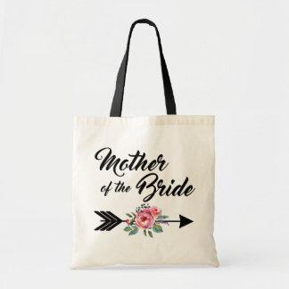 Madre de la flecha de la novia bolso de tela