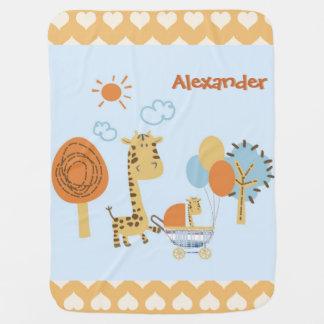 madre de la jirafa y manta lindas del cochecito de mantas de bebé