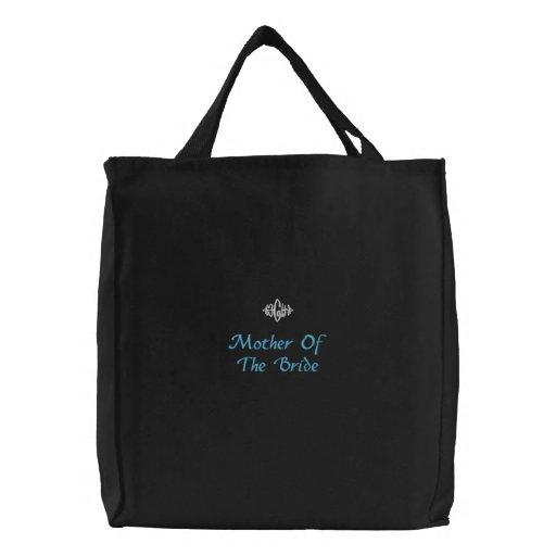 Madre de la novia que casa el bolso bordado negro bolsas