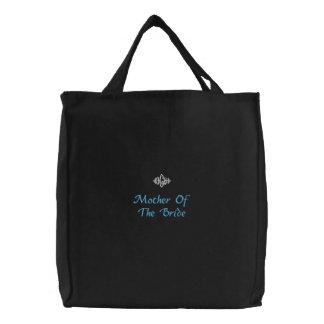 Madre de la novia que casa el bolso bordado negro bolsas bordadas