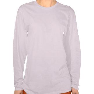 Madre de la silueta y blusa de manga larga de las camisetas