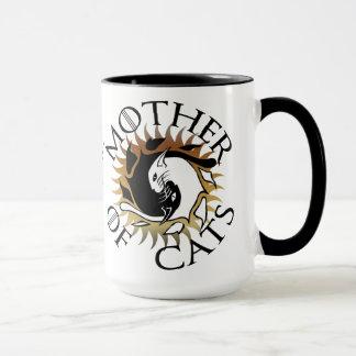 Madre de la taza de café de los gatos