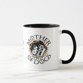 Madre de la taza de café de los perros