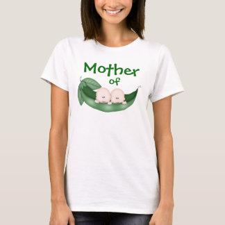 Madre de muchachos gemelos camiseta