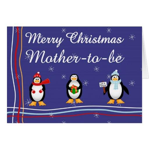 Madre de Navidad a ser tarjeta de felicitación