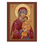 Madre de Pimen de la tarjeta del rezo de dios Tarjeta Postal