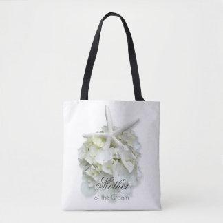 Madre del bolso floral blanco de las estrellas de bolsa de tela