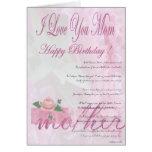 Madre del feliz cumpleaños de la hija tarjeta