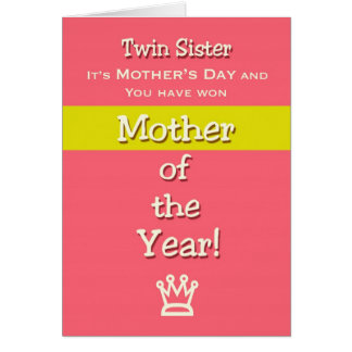 ¡Madre del humor de la hermana del gemelo del día Tarjeta De Felicitación