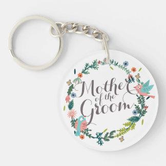 Madre del llavero floral del boda de la guirnalda