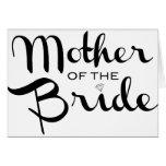 Madre del negro de la novia en blanco tarjetón