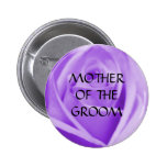 Madre del NOVIO - la lavanda subió el botón Pins