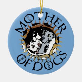 Madre del ornamento de cerámica de los perros