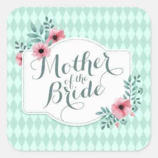 Madre del pegatina elegante del boda de la novia