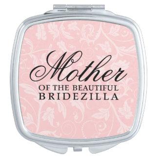 Madre del regalo de la novia/de boda de Bridezilla Espejos Compactos