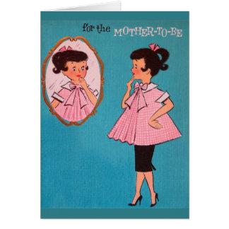 Madre del vintage a ser tarjeta de felicitación de
