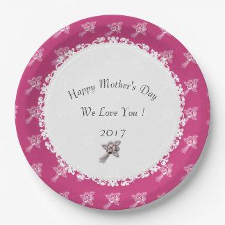 Madre-Día--Template_Mauve-White-Roses Plato De Papel