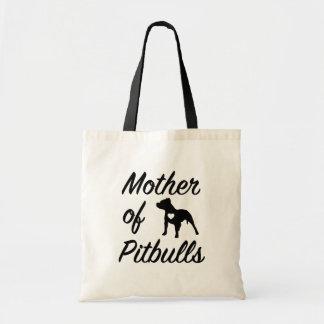 Madre divertida del bolso para mujer del pitbull