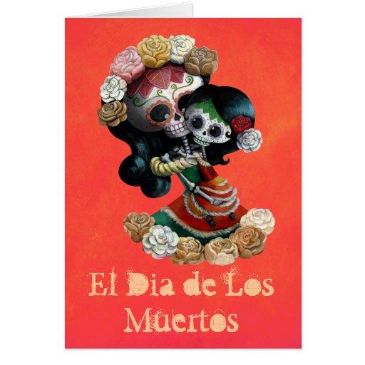 Madre e hija de Catrinas del mexicano Felicitación