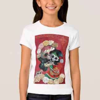 Madre e hija de Dia de Los Muertos Skeletons Camiseta