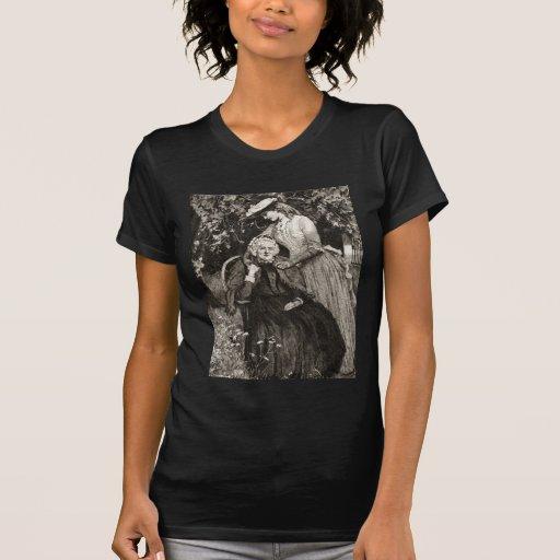 Madre e hija mayores del vintage camiseta
