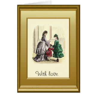 Madre e hijas tarjeta de felicitación