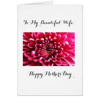 Madre feliz a mi esposa tarjeta de felicitación