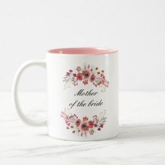 Madre floral de la taza de la novia