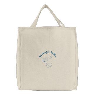 Madre maravillosa bolsas de lienzo
