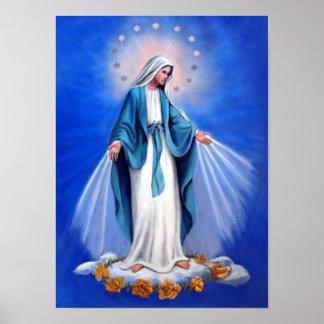 Madre Maria, madre de la Virgen Santa de la Póster