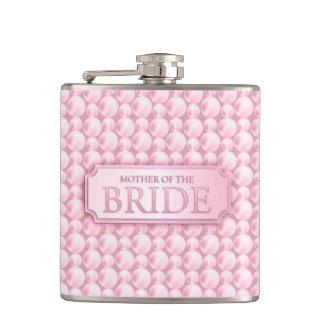 Madre nacarada rosada del frasco del boda de la no petaca