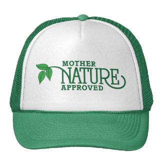 Madre naturaleza aprobada gorras