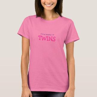 Madre orgullosa de gemelos camiseta