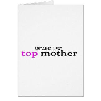 madre superior tarjeta de felicitación